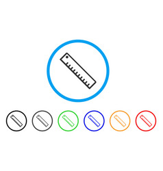 length ruler rounded icon vector image