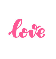 Love word lettering isolated on white background vector