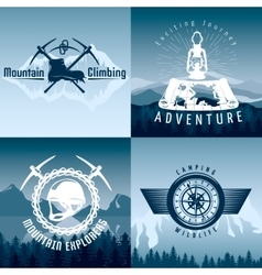 Mountain Adventures Compositions vector image