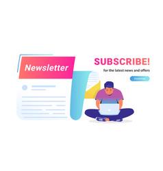 Newsletter subcription for latest news vector