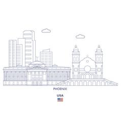 phoenix city skyline vector image