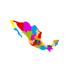 political map of mexico vector image