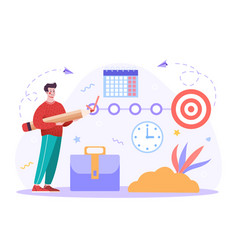 project goal tracking vector image