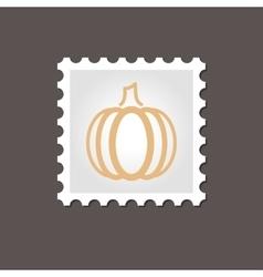 Pumpkin stamp Outline vector