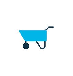 pushcart icon colored symbol premium quality vector image