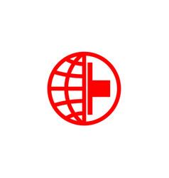 red cross logo vector image