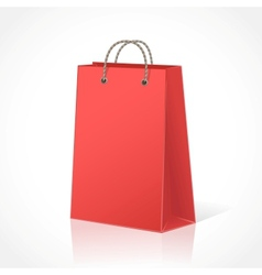 Red shopping bag vector image