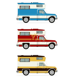Retro pick up campers vector
