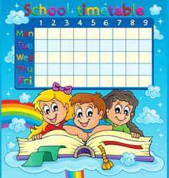 school timetable thematic image 7 vector image