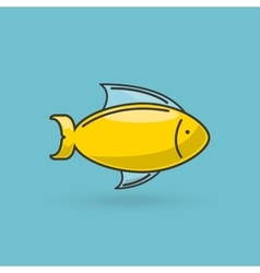 sea animal flat icon design vector image