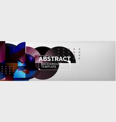 semi cicrle geometric backgrounds on grey modern vector image