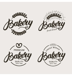 Set of bakery and bread logo vector
