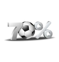 Seventy percent discount icon vector