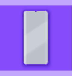 Smartphone presentation mockup in violet color vector