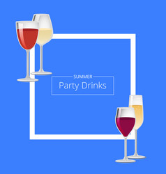 summer party drinks color vector image