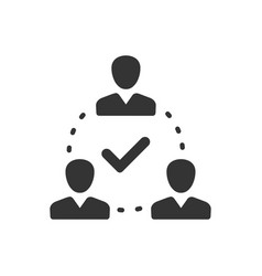 Teamwork decision icon vector