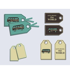 Travel and camping brand identity labels - vector