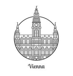Travel vienna icon vector