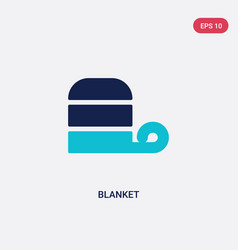 Two color blanket icon from autumn concept vector