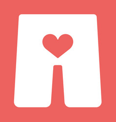 underwear with heart icon vector image