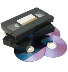 VHS tape and DVD vector