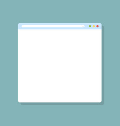 Web browser window browser in flat design web vector