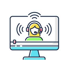 Web streaming rgb color icon vector