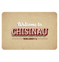 Welcome to chisinau vector
