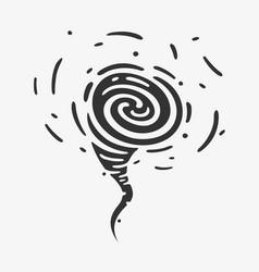 wind symbols hurricane vector image