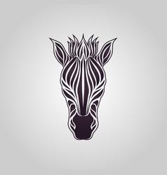Zebra logo icon design vector
