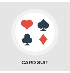 Card suit Flat Icon vector image vector image