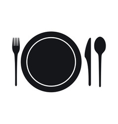 Disposable Tableware Icon vector image
