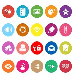 General computer screen flat icons on white vector image vector image
