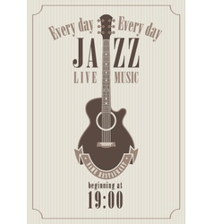 Poster for a jazz vector image