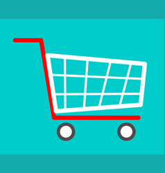 shopping cart flat icon vector image