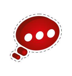 speech bubble communication cut line vector image