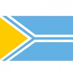 tuva flag vector image vector image