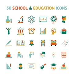 30 education icons vector image vector image