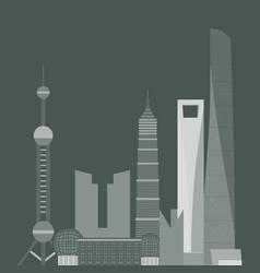 china travel landmark shanghai architecture vector image vector image