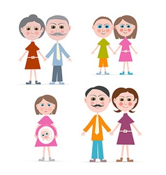 Family Members Isolated on white Background vector image vector image