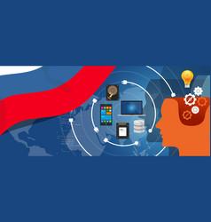 Russia it information technology digital vector