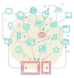 Social network vector image vector image