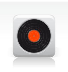 vinyl icon vector image vector image