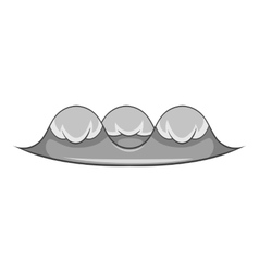 Foamy wave icon cartoon style vector image