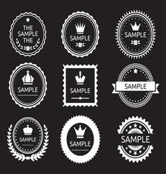 Premium Quality SET resize vector image vector image