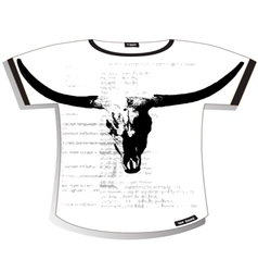 bull t shirt vector image vector image