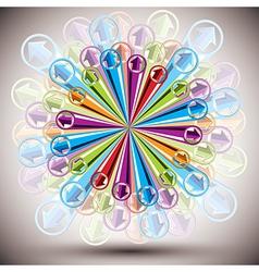 Color arrows explosion vector image vector image