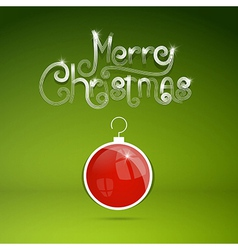 Merry Christmas theme on green background vector image vector image