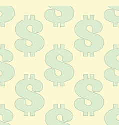 Seamless pattern with dollar sign vector image vector image