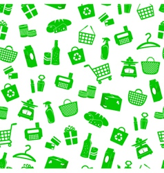 shopping pattern vector image